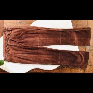Vtg. Lilly Pulitzer Lamb Leather Moto Pant, 12